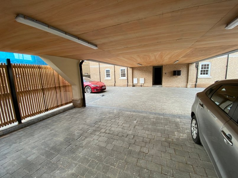 Allocated parking space for each apartment
