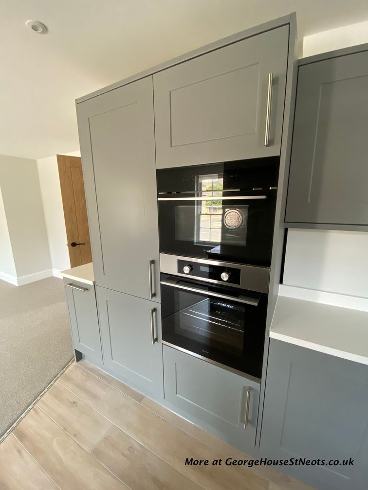 Kitchen includes fitted oven and microwave